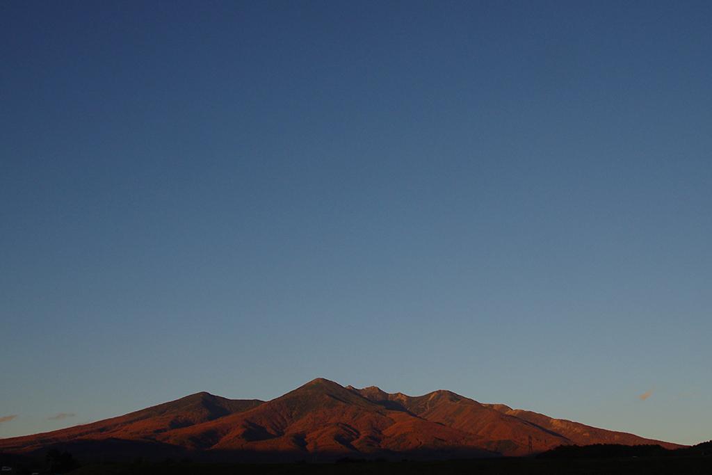 夕映えの八ヶ岳