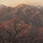 早朝の鳳凰三山